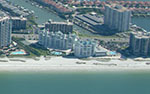 This complex is direct beachfront condos on the West Coast of Florida in Sandkey. The penthouse is beautiful with fireplace and direct beachfront views