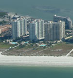 The Grande is on north Sand Key beach and offers beach front condos for sale.
